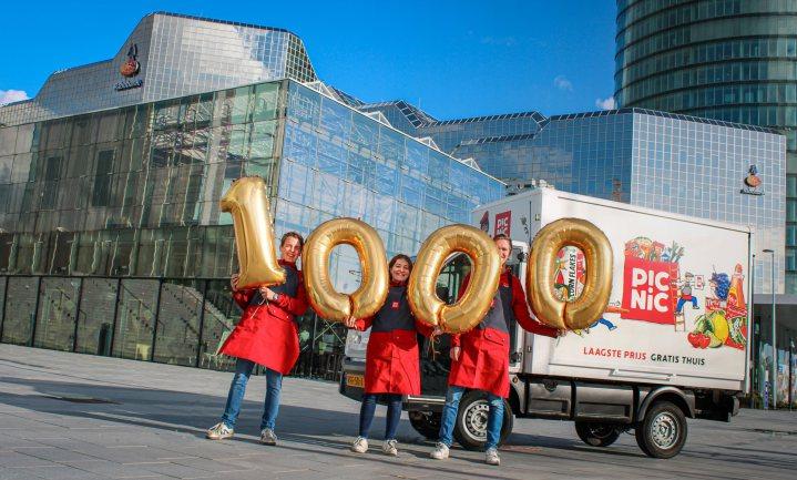 Picnic stuurt duizendste bestelautootje de weg op