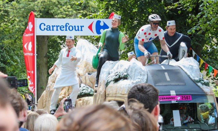Franse boeren verstoren Tour de France