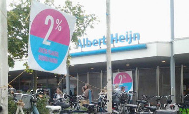 Boerenorganisatie NAJK voert 2%-actie bij AH in Barneveld