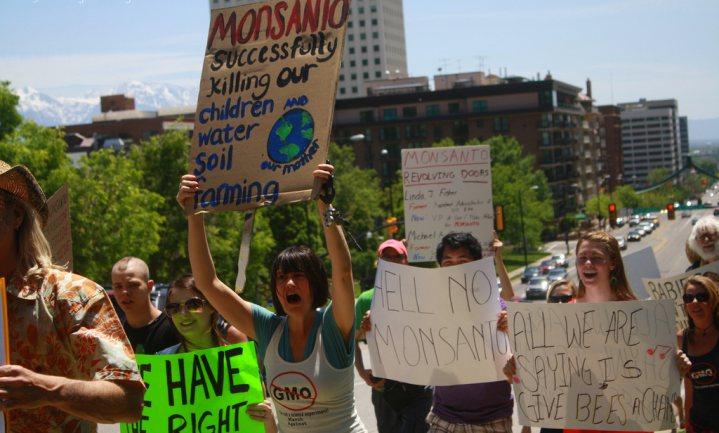 Marcheren voor informeren, niet tegen Monsanto