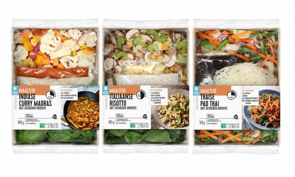 Gesneden verspakketten van AH - in een mum van tijd een volledige groenterijke maaltijd op tafel