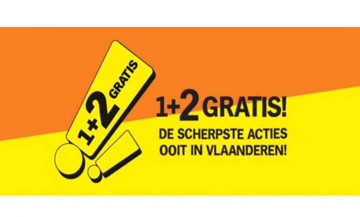 Ongezien in België: '1+2 gratis' bij Albert Heijn