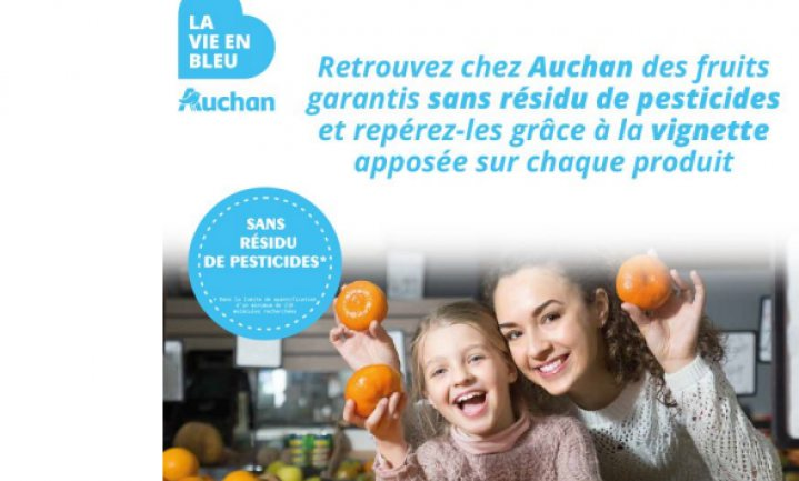 Franse super verkoopt pesticidenresidu-vrij vers