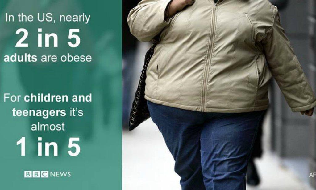 Amerika lijkt obesitas-doelen 'Healthy People 2020' niet te gaan halen
