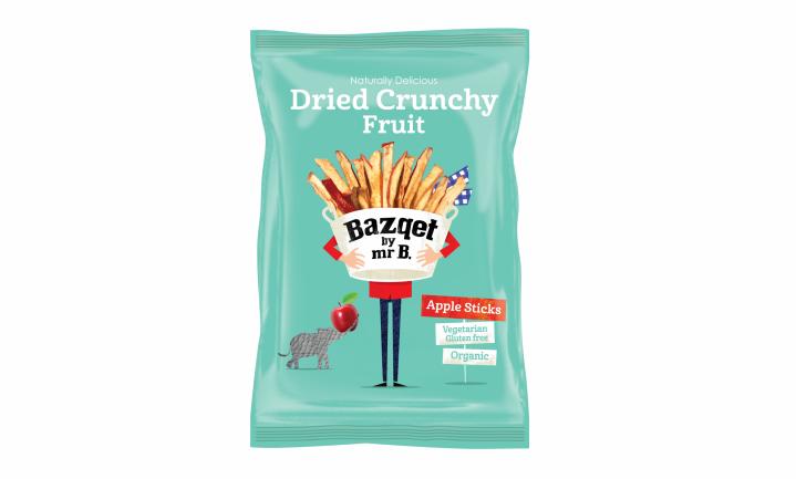Bazqet Dried Crunchy Apple: gedroogde crunchy snack van geredde appels
