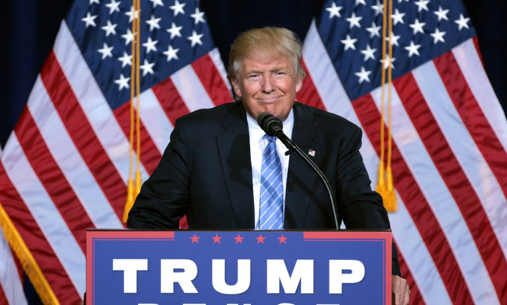 Trump zet varkens in