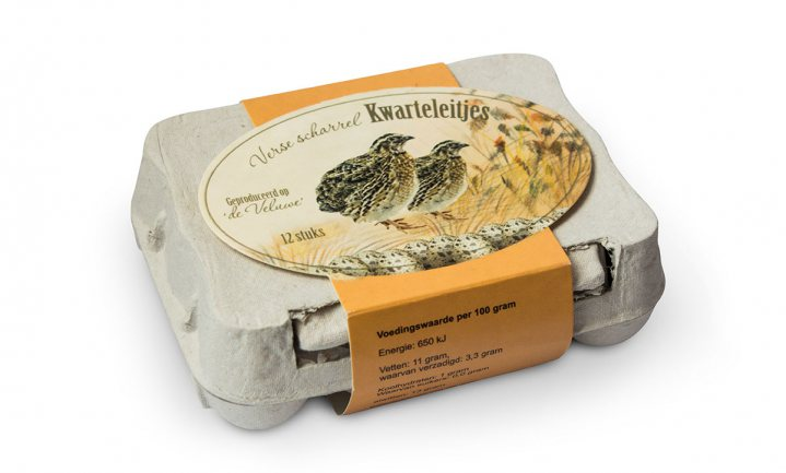 'Veluwse' scharrelkwarteleieren afkomstig uit Franse legbatterij