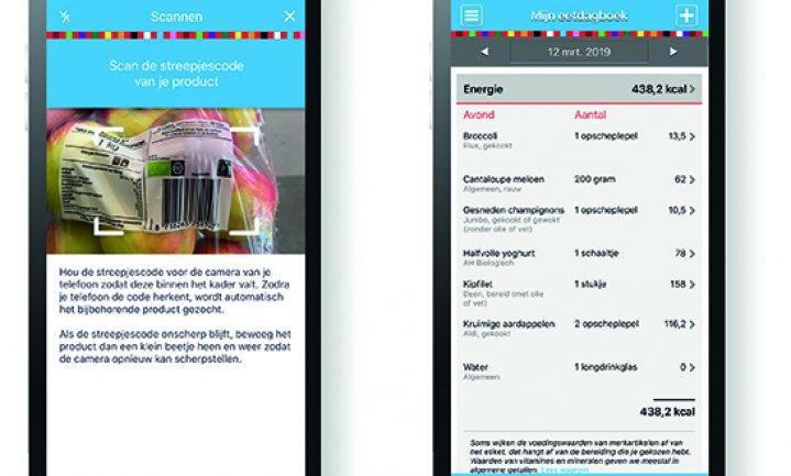 'Mijn Eetmeter'-app wordt 'groter' en krijgt barcode-scanner