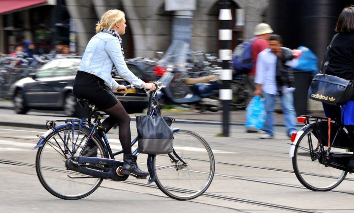 Europeanen de fiets op voor schone en gezonde anderhalvemetermaatschappij