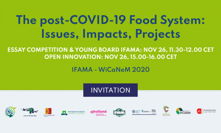 Invitation live webinar: Open Innovation as a remedy for pandemic crisis in agri-food