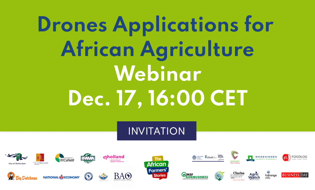 Drones Applications for African Agriculture - Join the Conversation, Thursday December 17