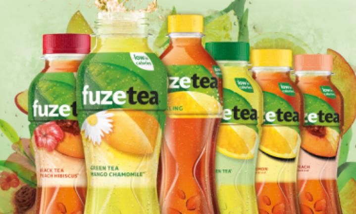 Coca-Cola mengt speciaal voor Nederland ijstheevariant van het merk Fuze Tea