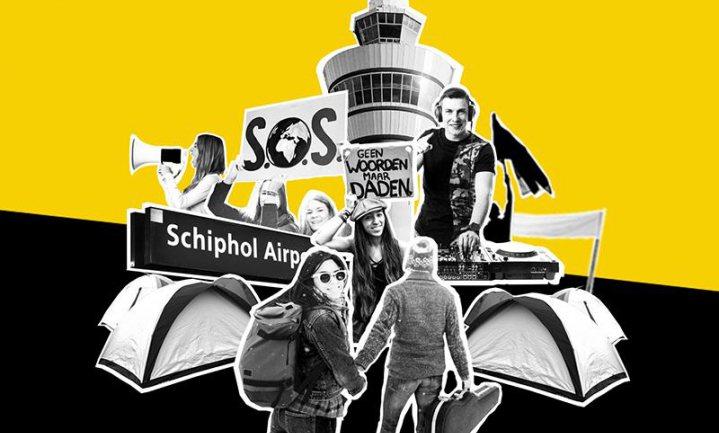 Greenpeace zet Schiphol onder druk met Protestival