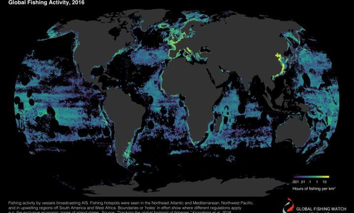Visserij gebruikt veel meer watergebied dan boeren land