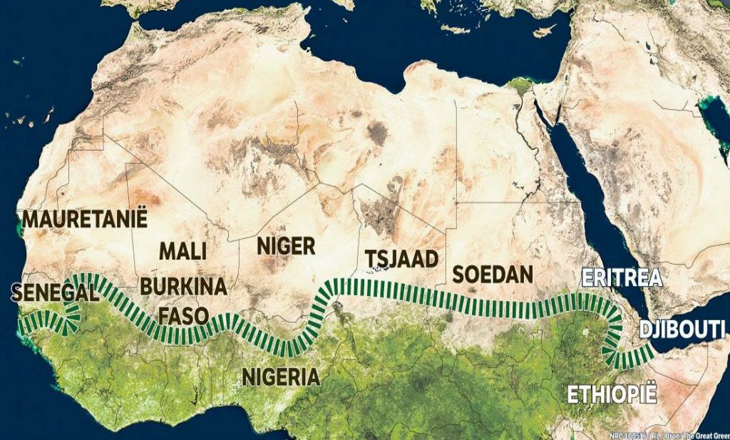 Afrika plant Grote Groene Muur tegen verwoestijning