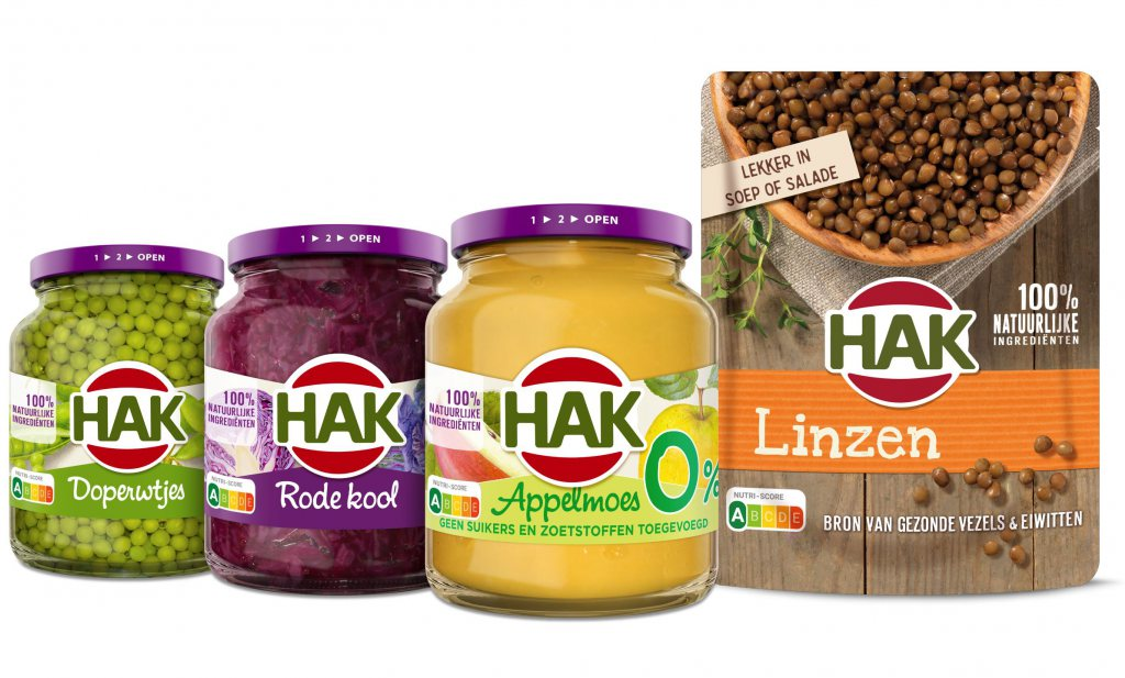 Nieuw van HAK: Nutri-Score op de potten en zakken