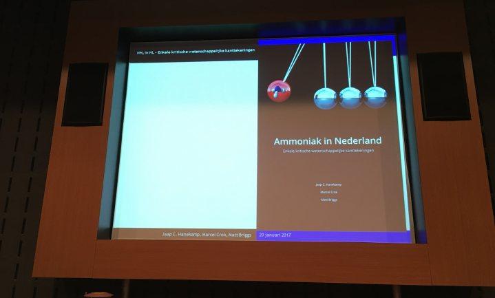 'Ammoniakbeleid mist wetenschappelijke onderbouwing'