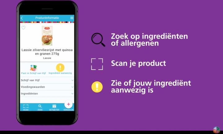 'Kies-Ik-Gezond'-app van Voedingscentrum krijgt ingrediëntenchecker