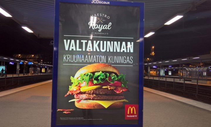 Finnen bepalen of McVegan ook elders op het menu komt