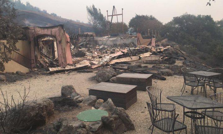Vuur verwoest wijnbouwgebieden Californië
