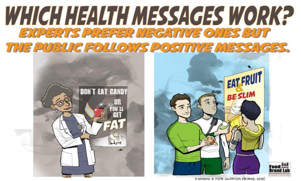 'Eet dit' werkt; 'eet dit niet' werkt niet