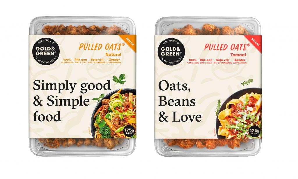 Pulled Oats van Gold&Green: vleesvervanger van haver en peulvruchten
