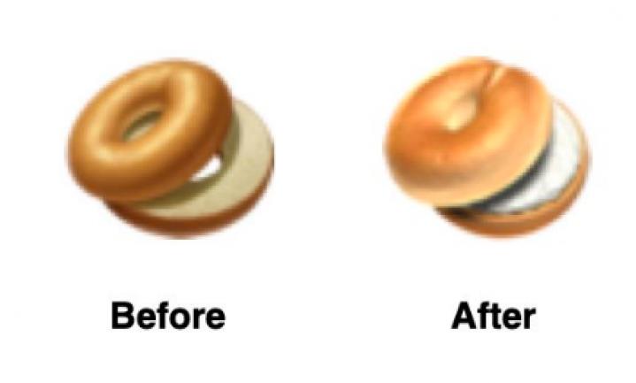 Apple maakt smakelijker bagel-emoticon na klachten liefhebbers