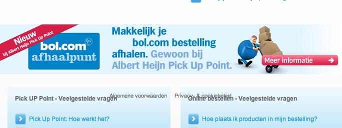 Afhaalpuntenpilot Bol.com bij AH succes