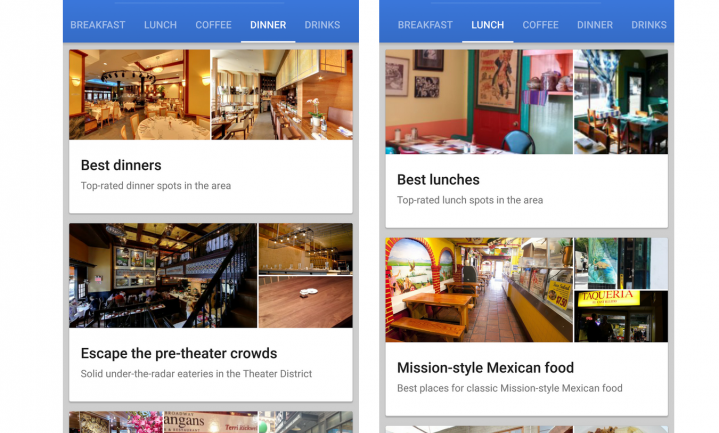 Google weet waar jij wilt eten