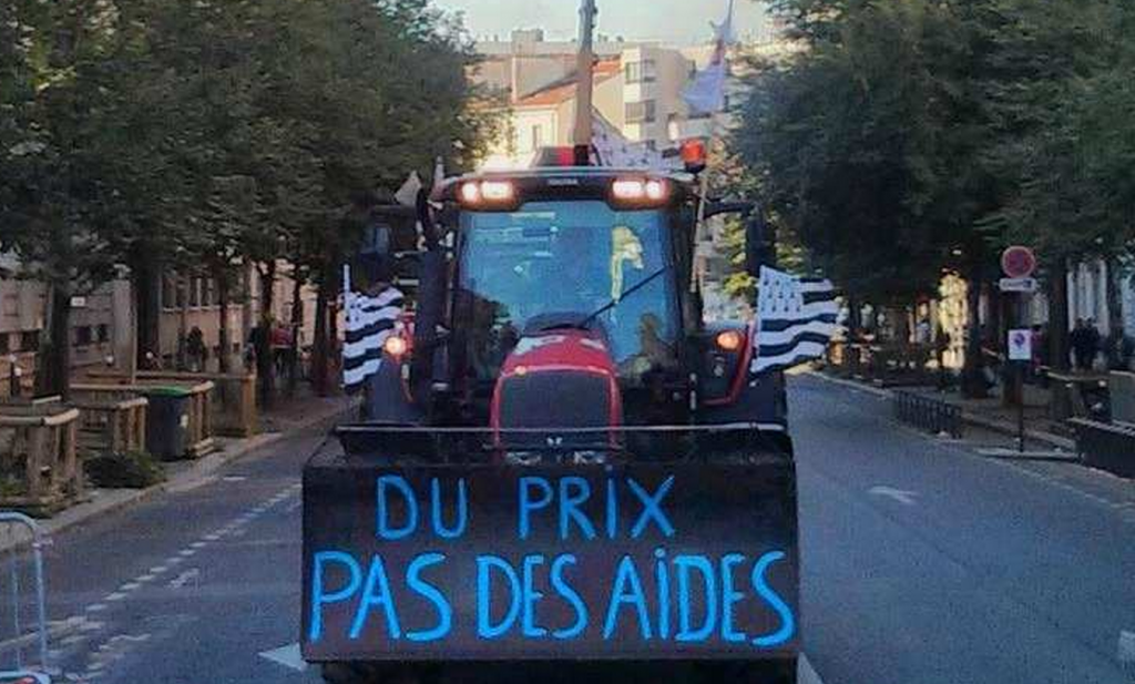 Franse boeren boos ondanks € 1 miljard steun