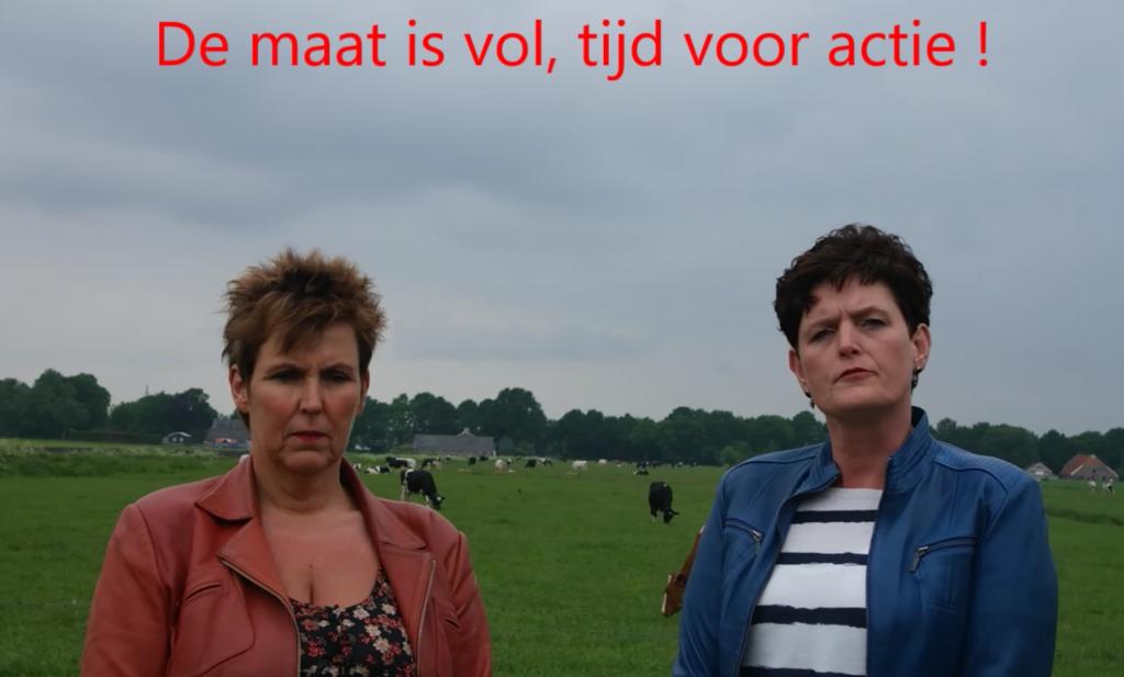 'Massaal protest tegen lage melkprijs' in Amsterdam