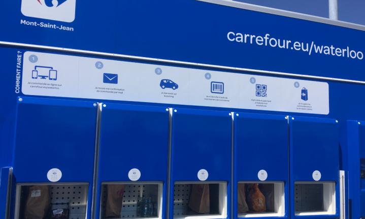 Belgische supermarkt Carrefour heeft primeur volautomatische food-drive