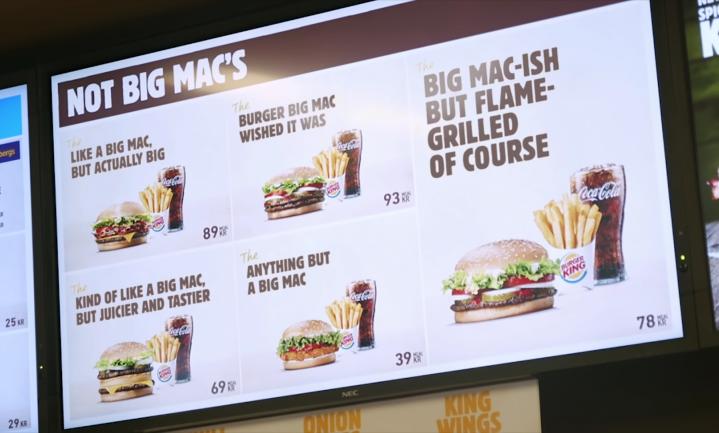 Burger King trolt McDonald's met 'Not Big Macs'