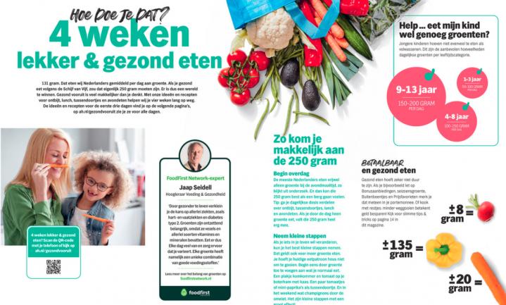Huis-aan-huis in de bus: de gezonde leefstijl van Albert Heijn