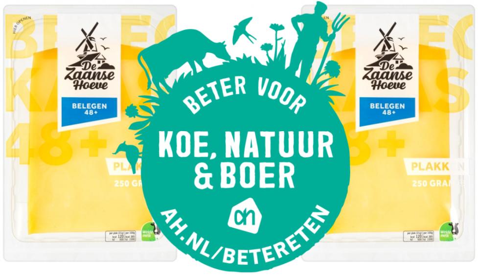 Instapmelk van Albert Heijn nu ook 'Beter voor Koe, Natuur en Boer'