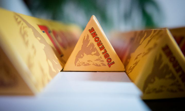 Minder chocolade in Toblerone door nieuwe vorm