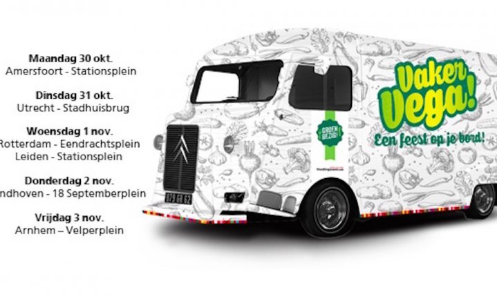 Het Voedingscentrum komt naar je toe met een foodtruck en 'Vaker Vega!'