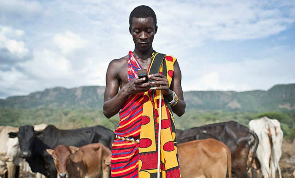 Mobieltjes kunnen van Afrikaanse boer ondernemer maken