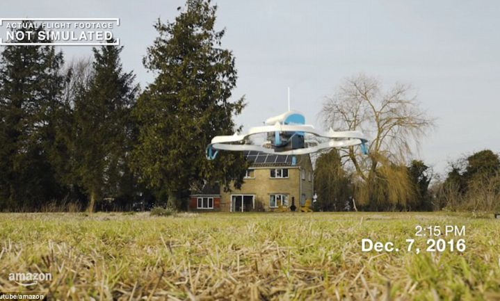 Amazon patenteert distributiecentra in de lucht