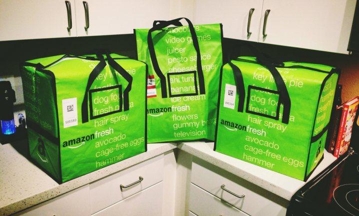 Alle boodschappen van Amazon voortaan via dezelfde bezorgdienst