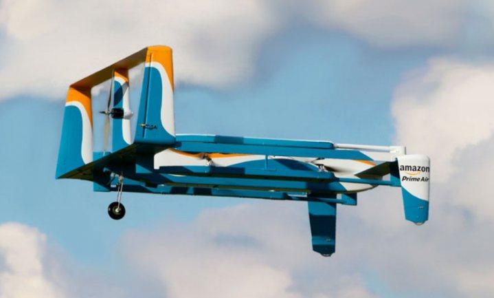 Amazon toont echte drone bezorging