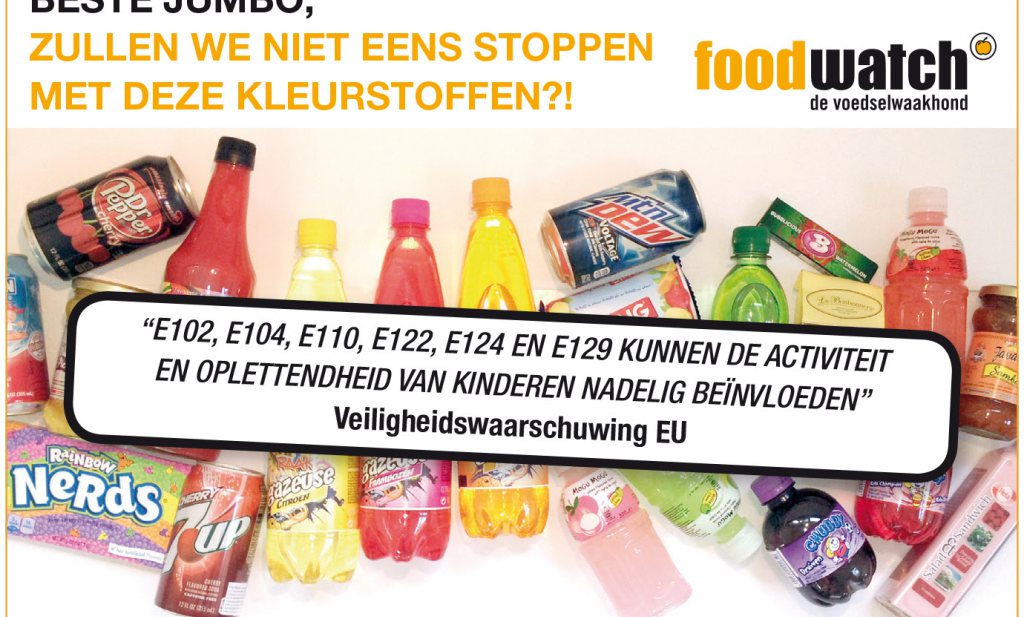 foodwatch wil stop AZO-kleurstoffen, AH buigt, onterecht vindt EFSA