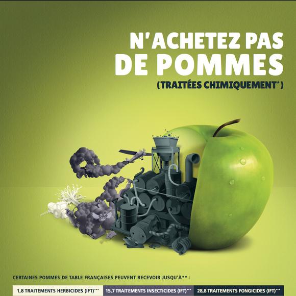 In Frankrijk mag bespoten fruit officieel 'gevaarlijk' heten