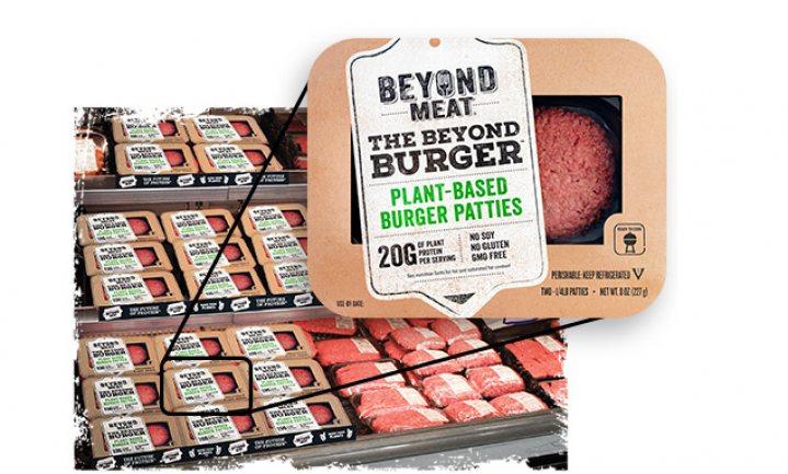 Mede door Gates gefinancierde plantaardige hamburger breekt door
