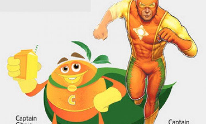 Captain Citrus moet sinaasappelsap 'frisser' imago geven
