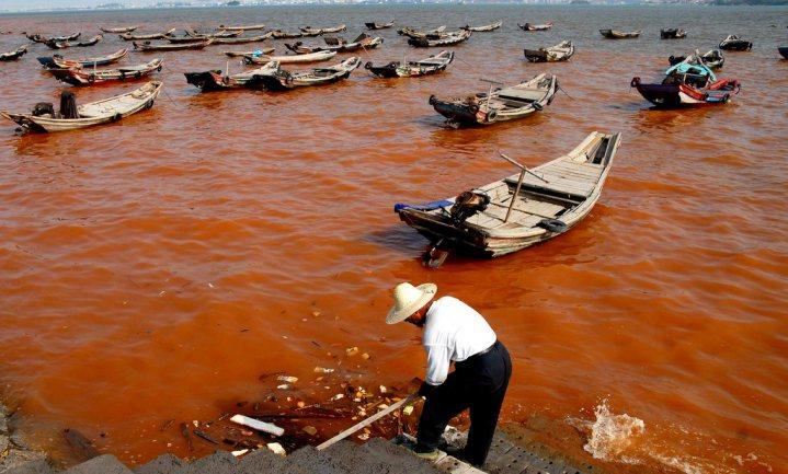 Watervervuiling bedreigt visserijdoelen China