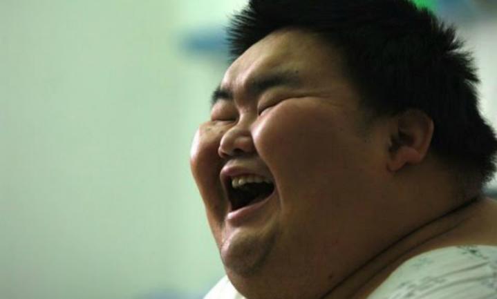 Arme Chinees in stad wordt dikker