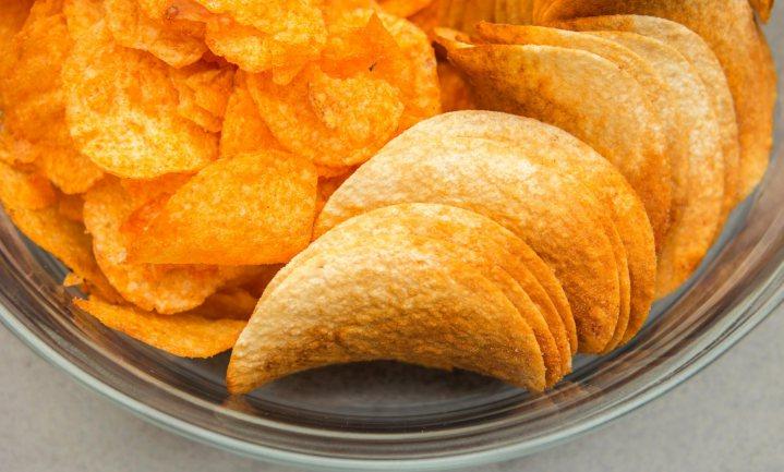 Minder vette chips minder krokant