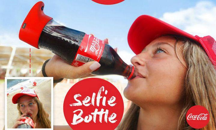 Coca-Cola's selfie bottle zet elk slokje op social media