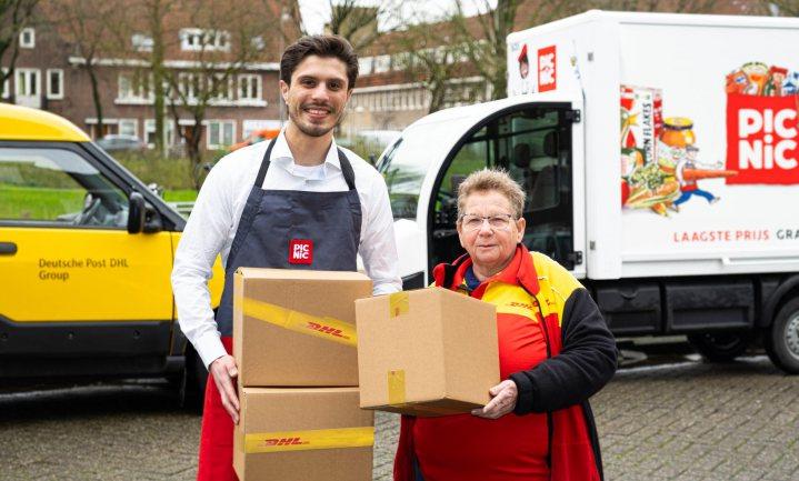 DHL-retourzendingen mogen mee met de boodschappenwagen van Picnic